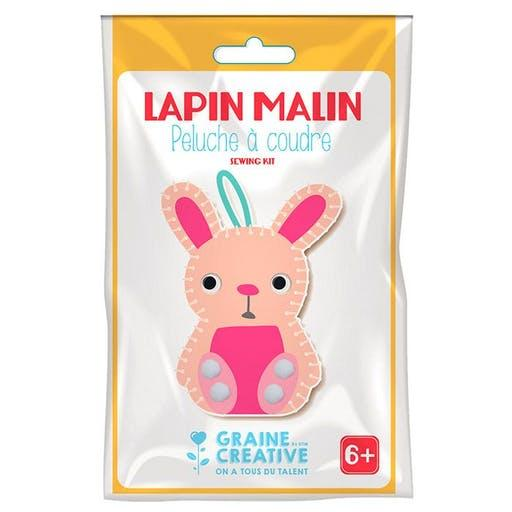 Kit peluche a coudre lapin malin doo